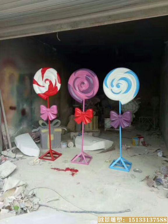 玻璃钢棒棒糖雕塑 (1)