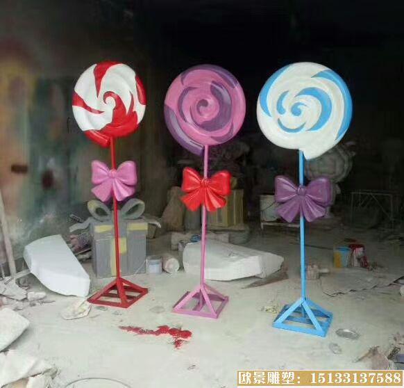 玻璃钢棒棒糖雕塑 (3)