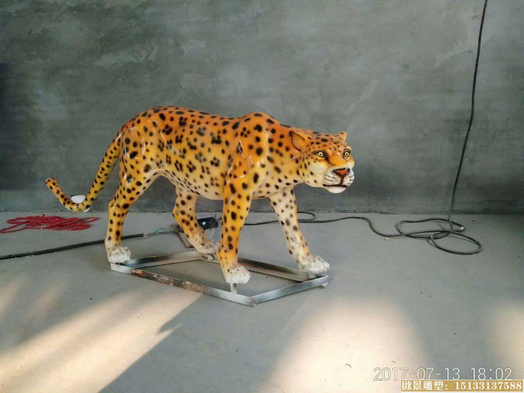 玻璃钢豹子雕塑 (2)